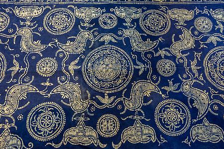 侗族家织布印染纹饰图片