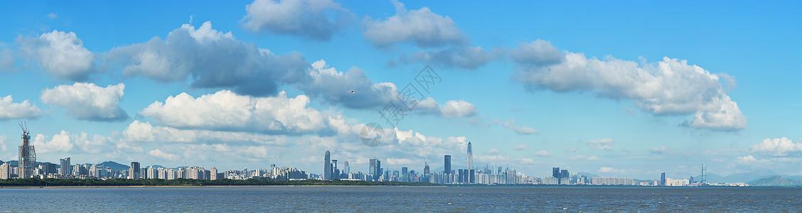 深圳湾高清全景图片