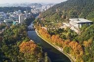 航拍遵义城市森林公园图片