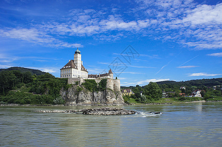 欧洲河岸的风景图片