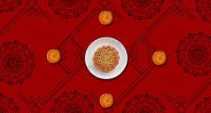 中秋月饼背景图片