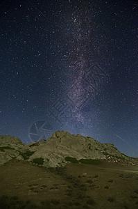 新疆阿尔泰山银河夜景图片