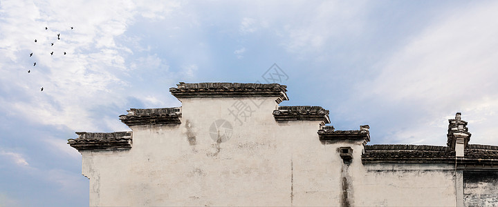 江南传统民居建筑墙体-马头墙图片
