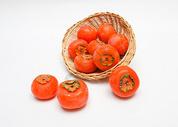 秋天成熟的柿子图片