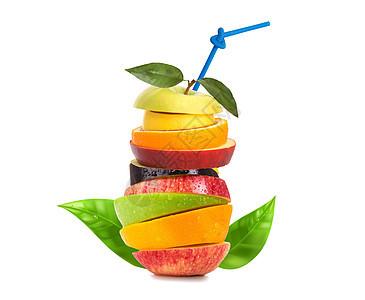 创意水果健康饮品图片
