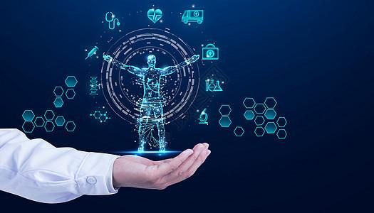 健康医疗人体科技图片