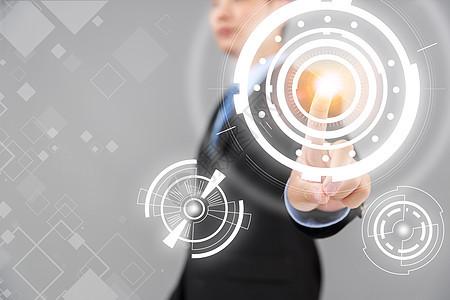 触摸商务科技背景图片