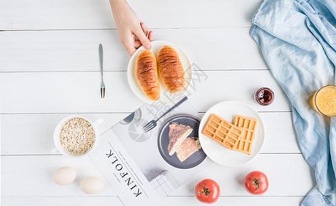 丰盛的文艺早餐图片