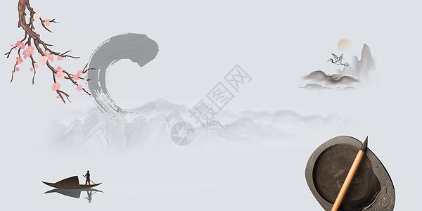 中国水墨背景素材图片