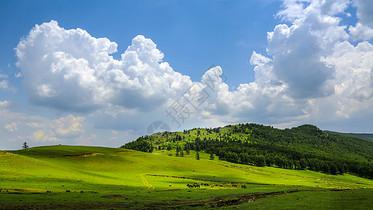 蓝天白云草原图片