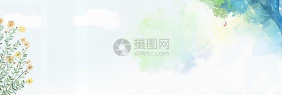 绿色文艺小清新背景图片