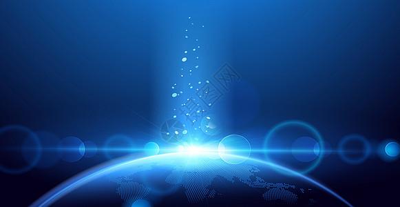 星球蓝色背景图片