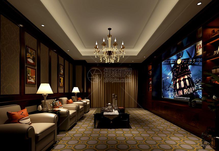 欧式奢华客厅室内设计效果图