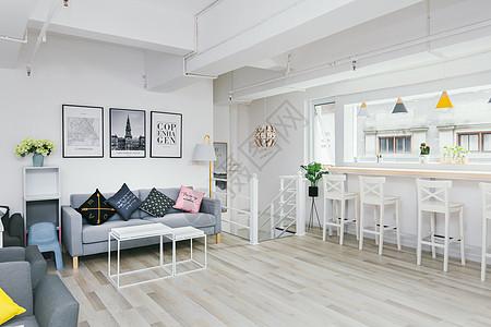 清新文艺咖啡馆室内设计图片