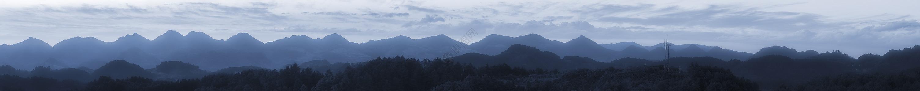 连绵山脉全景图片