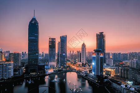 武汉黄昏西北湖图片