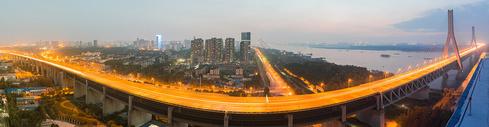 武汉天兴洲大桥夜景图片