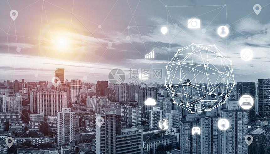 城市数据网络图片