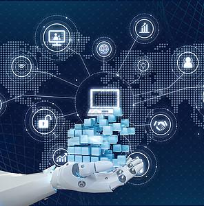 科技数据库电脑图片