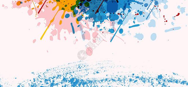 水彩多色背景图片
