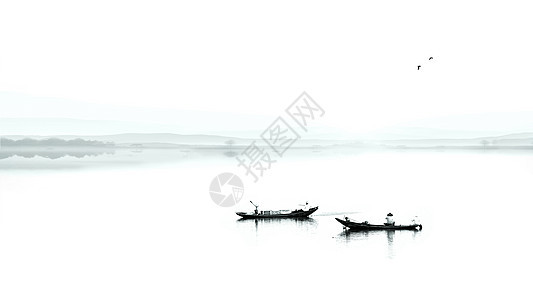 山水田园风光的照片图片