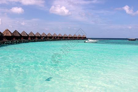 马尔代夫海里的水屋图片