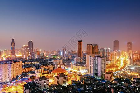 武汉黄昏新华路图片