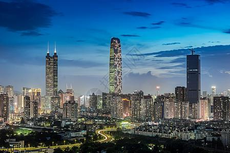 深圳罗湖三剑客城市建筑风光图片