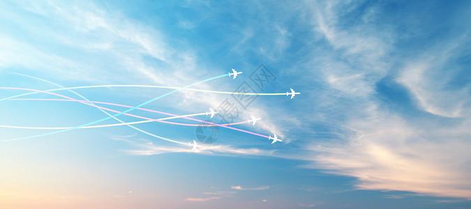 天空飞机背景图片