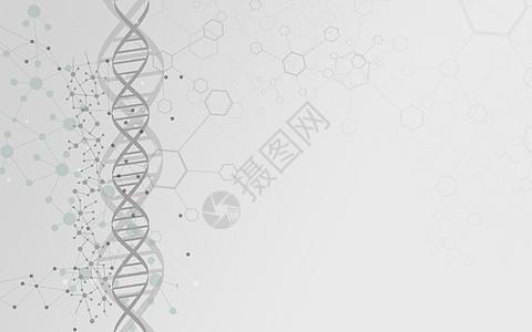 螺旋结构分子背景图片