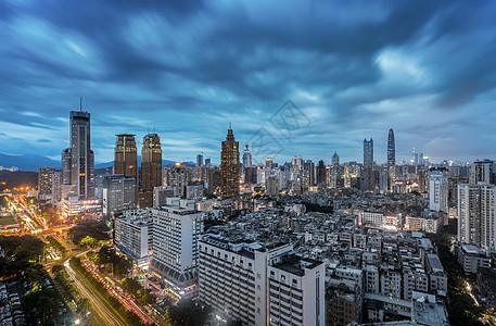 罗湖夜景城市建筑风光图片