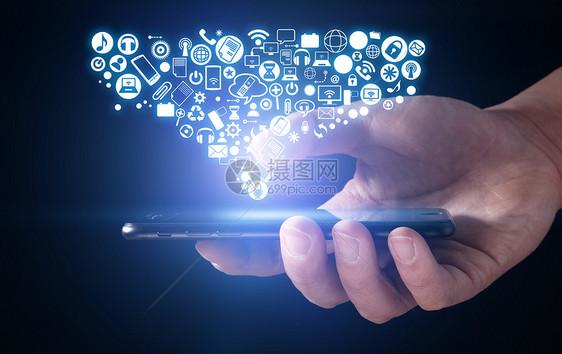 现代化智能手机图片