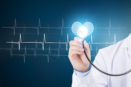 医生检查心跳集中图片