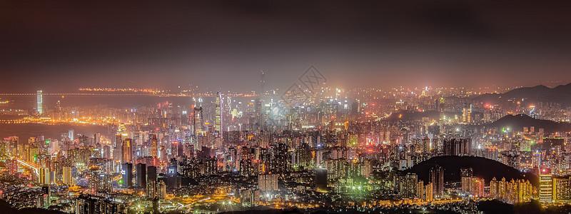深圳城市建筑夜景全景图图片