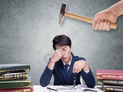 面对工作压力图片