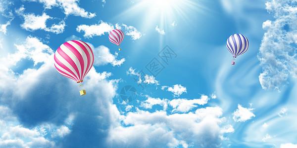 天空气球图片图片
