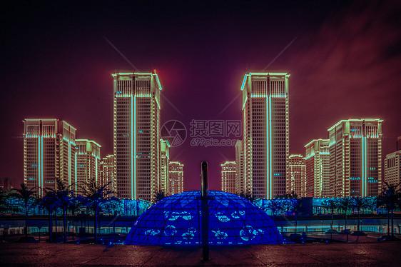 武汉城市夜景最美地铁站图片