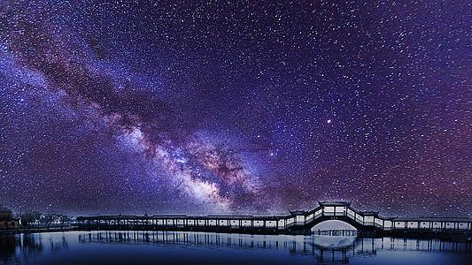 旅游胜地美丽的星空风光图片