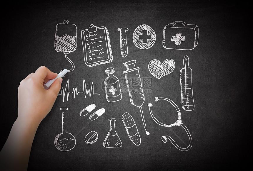 粉笔画医疗设备图片素材_免费下载_jpg图片格式_vrf