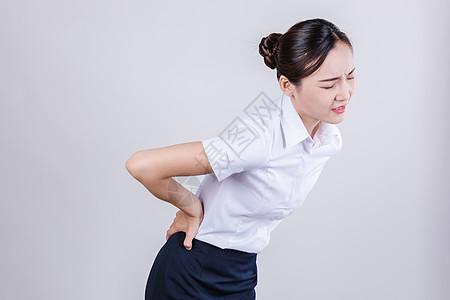 商务女士痛苦难受情绪表现图片