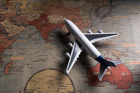 飞机与地图图片