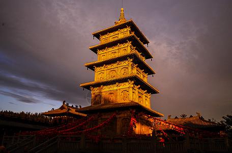 中式古建筑宝塔图片
