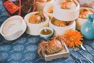 传统秋天美食大闸蟹图片