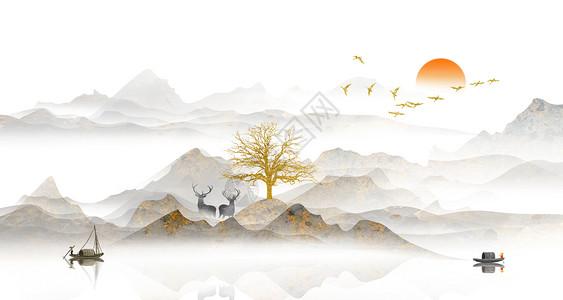 中国画画树步骤