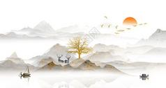 中国风山水花鸟图片