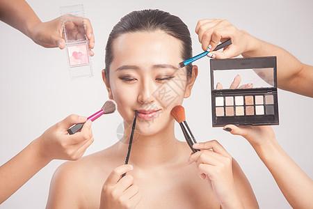 女性彩妆化妆创意拍摄图片