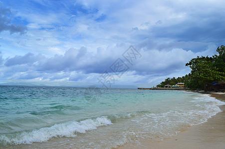 菲律宾白沙滩海滩唯美风景照高清图片