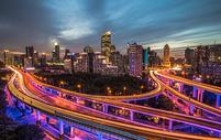 上海立交城市夜景图片