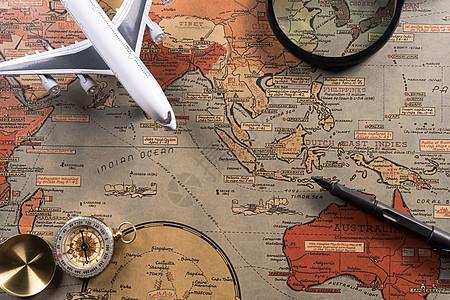 地图旅行规划图片