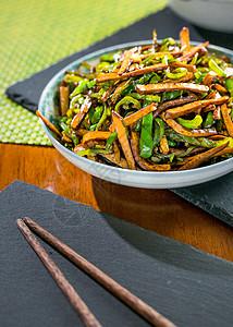 青椒炒豆干图片